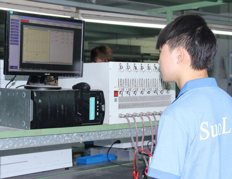 車間生產-鋰電池組測試