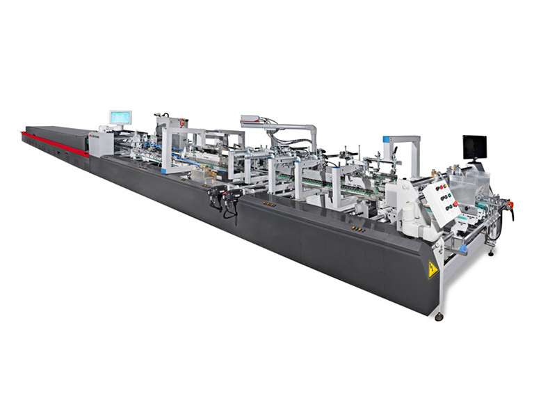 High-speed fully automatic box gluing machine appl