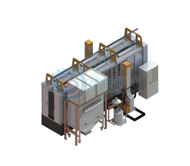 Stainless steel spray booth filter bag recycling system