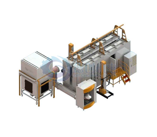 Sandwich internal hand-filled PP spray booth independent filter recovery system