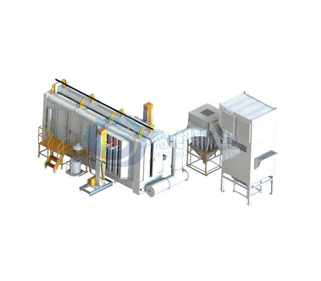 Stainless steel spray booth small cyclone plus filter recovery system