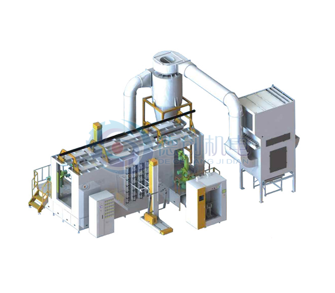 機器人手補作業濾芯回收系統
