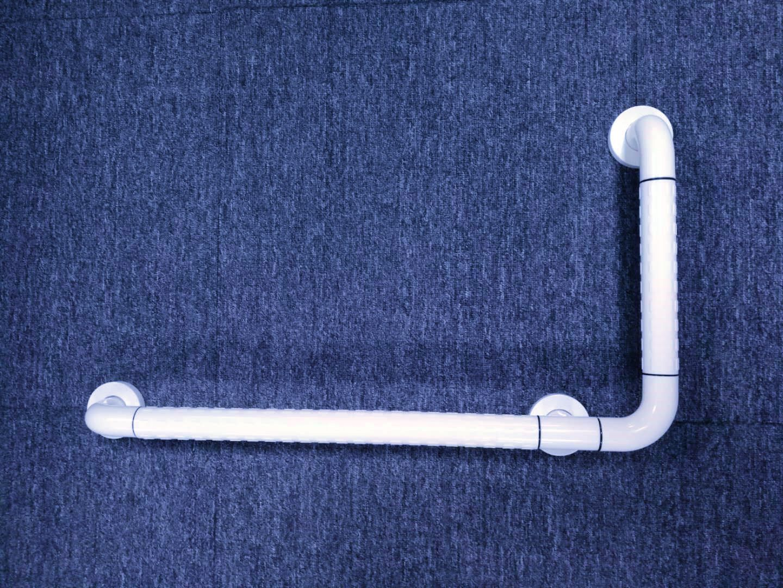 L型衛浴安全扶手LE-W01白色-勞恩塑料制品