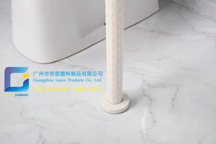 衛生間扶手-白色U型落地衛浴安全扶手無障礙老年人扶手LE-W21-1白色-勞恩扶手