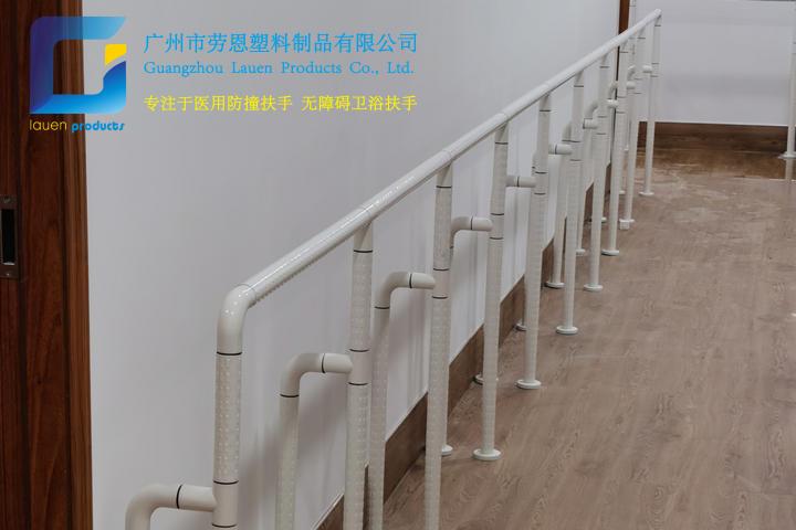2021.6荔灣區彩虹街通道尼龍立柱扶手立柱項目安裝 (2)