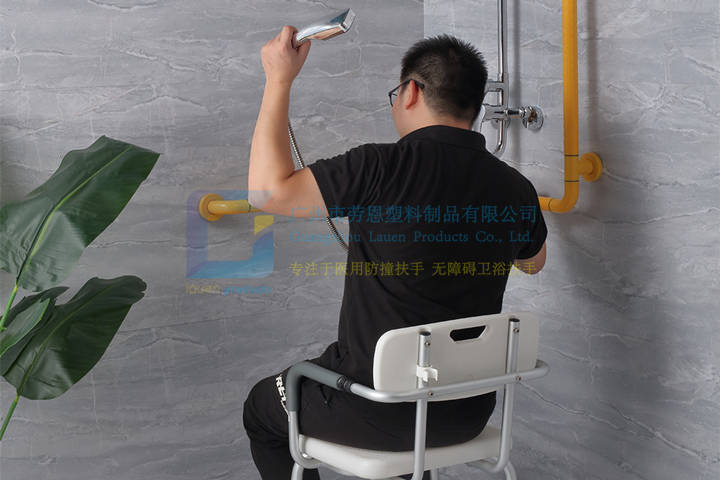 安全衛浴設備-衛生家老人助力扶手,折疊沐浴凳 (1)