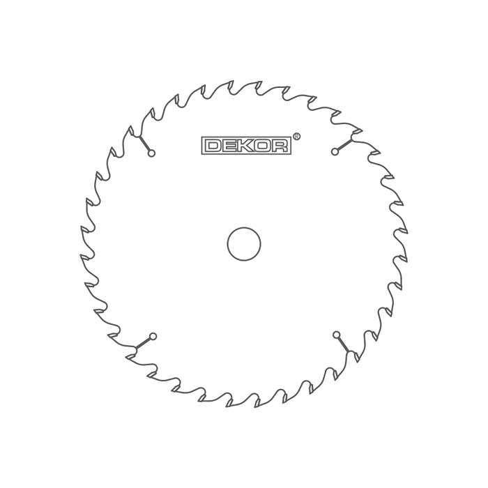 Solid wood saw blade