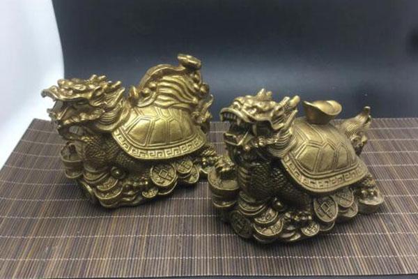 4寸铜如意龙龟