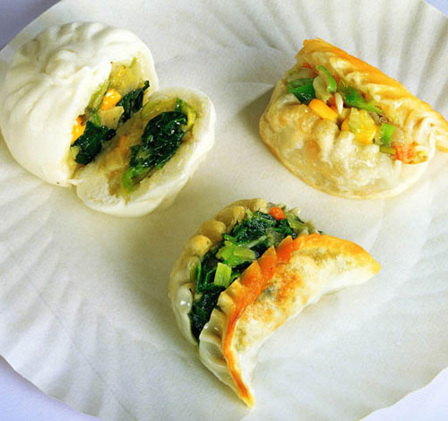 素菜包,素菜饺