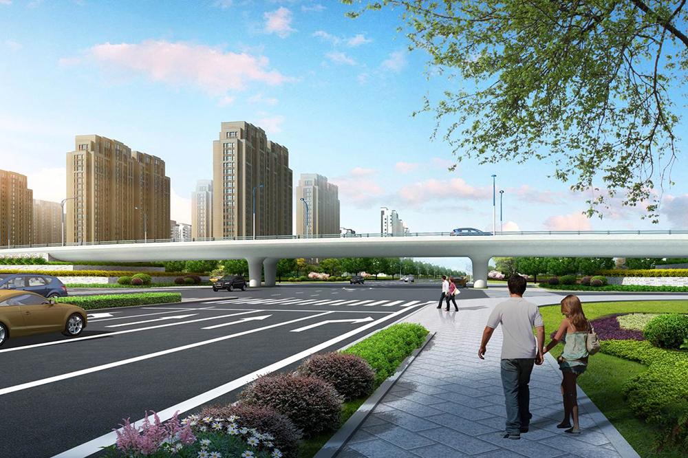 平沙新城起步区对外交通四条道路工程三期工程(A段)施工