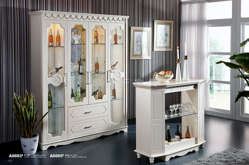 A8883#-Wine-cabinet(酒柜)-&A8885#-Bar-table(吧台)