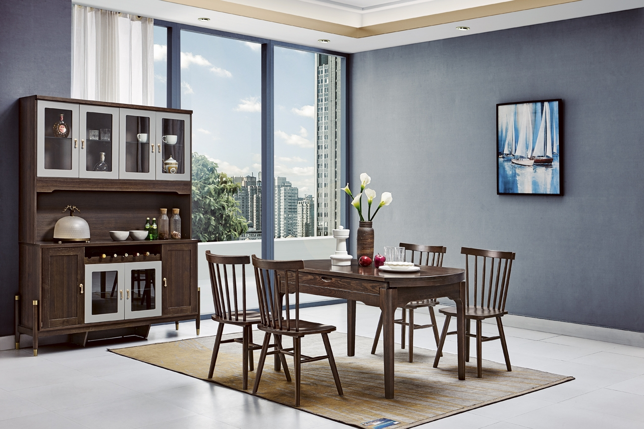 7732# dining table+7733#chair+7701#side board
