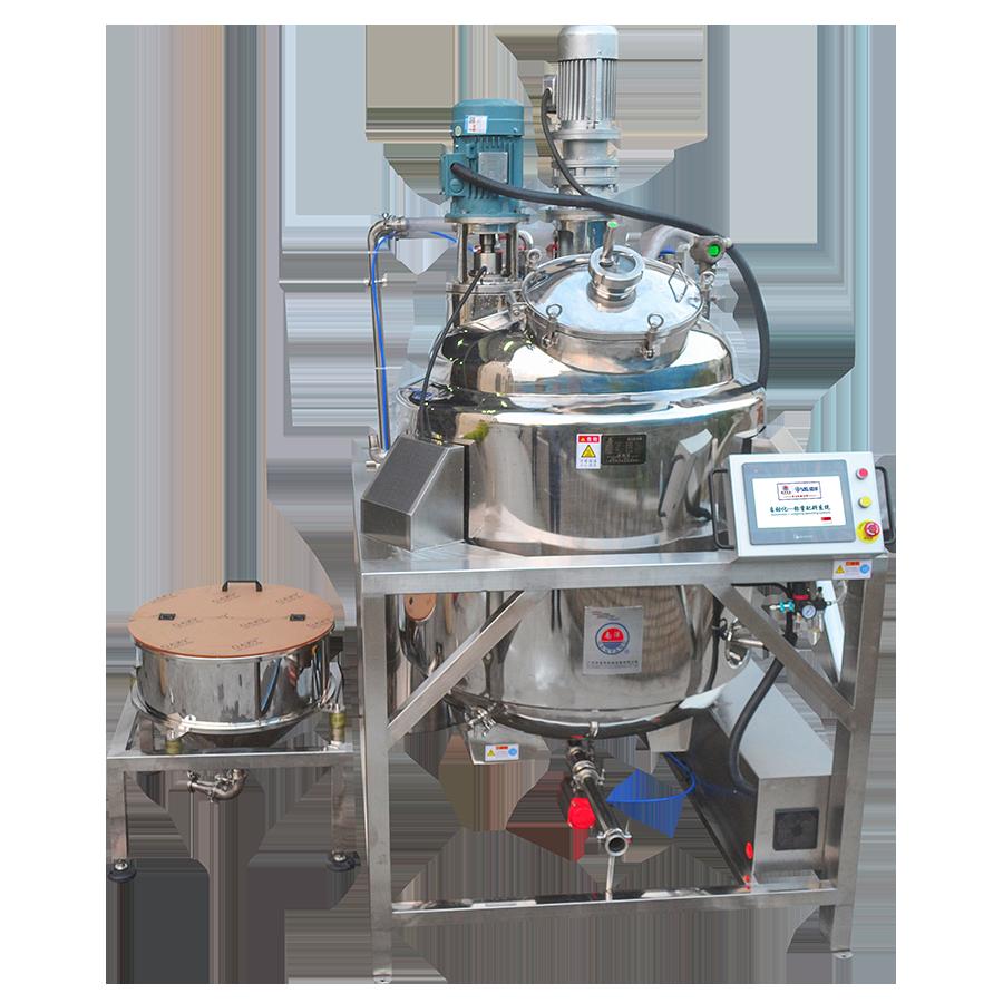 自动称重粉液配料反应釜 不锈钢密封型闭式电加热反应釜 龟苓膏加工设备