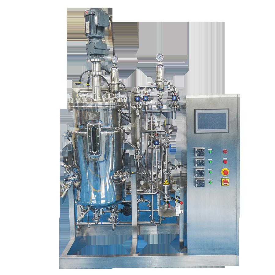 全自动不锈钢微生物提取发酵罐 小型实验室蒸汽真空液体搅拌罐