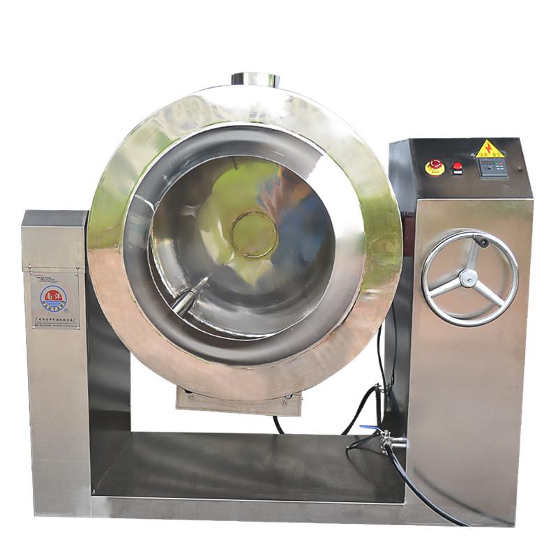 新型自动炒锅 不锈钢卧式燃气加热牛肉香料滚筒混合机炒锅