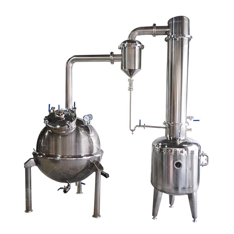 中药提取罐植物提取设备球形真空减压浓缩机班产0.5-40吨蜂蜜浓缩机组