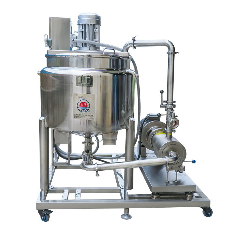 不锈钢定制电加热桶带乳化循环泵-制药乳化设备