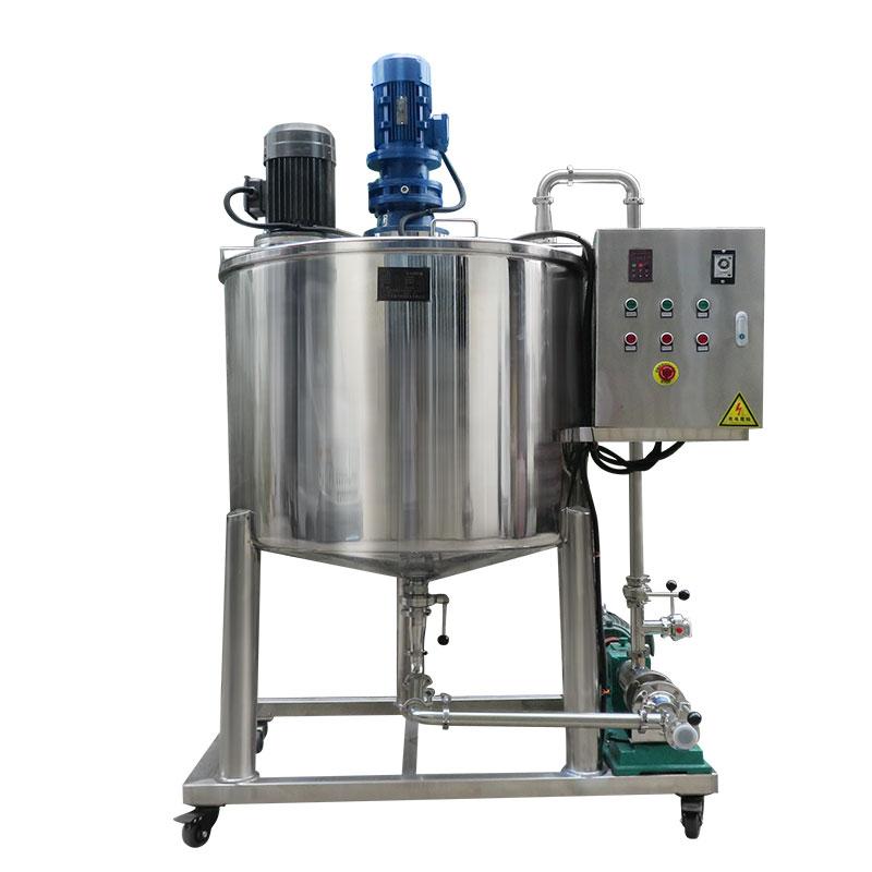 单层乳化搅拌罐配浓浆泵机组不锈钢搅拌桶带乳化头液体配置乳化罐