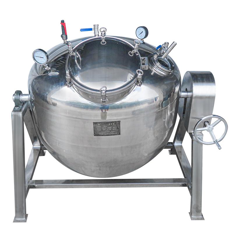 商用单层真空蒸汽蒸煮锅 花生黄豆煮豆设备 中央厨房蒸汽熬煮锅