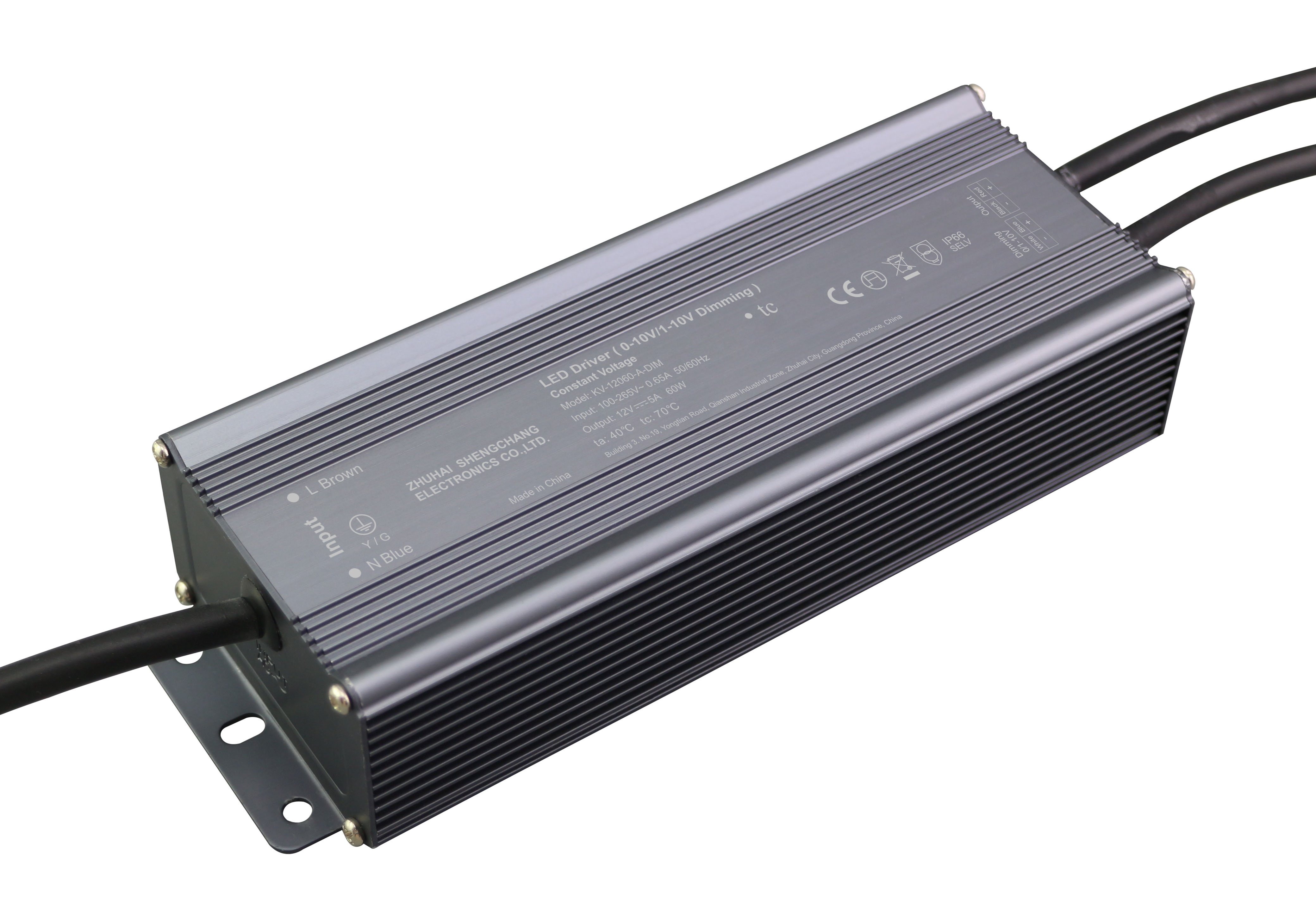 60W 0/1-10V constant voltage dimmable LED driver