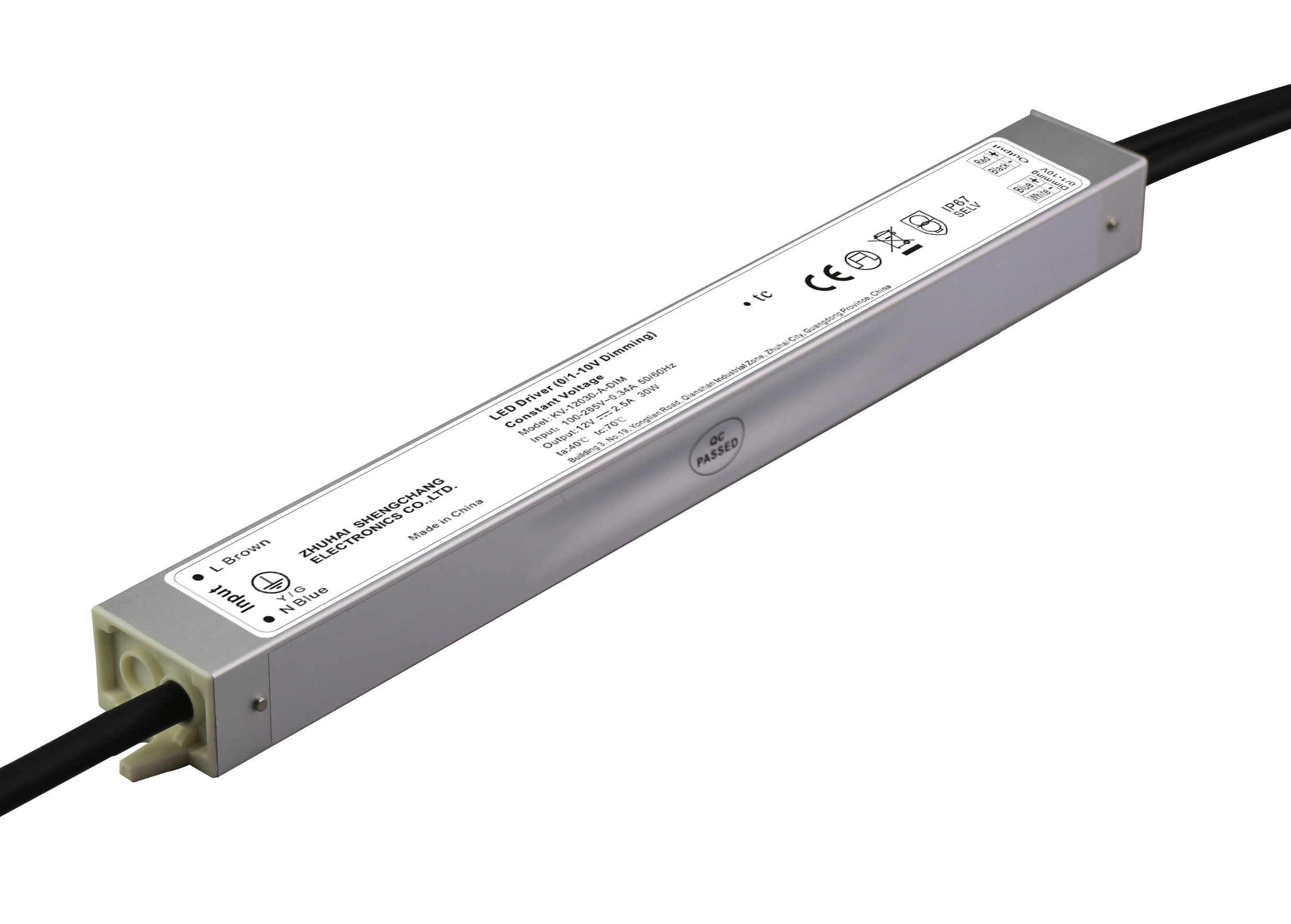 30W 12V/24V 0/1-10V LED调光电源