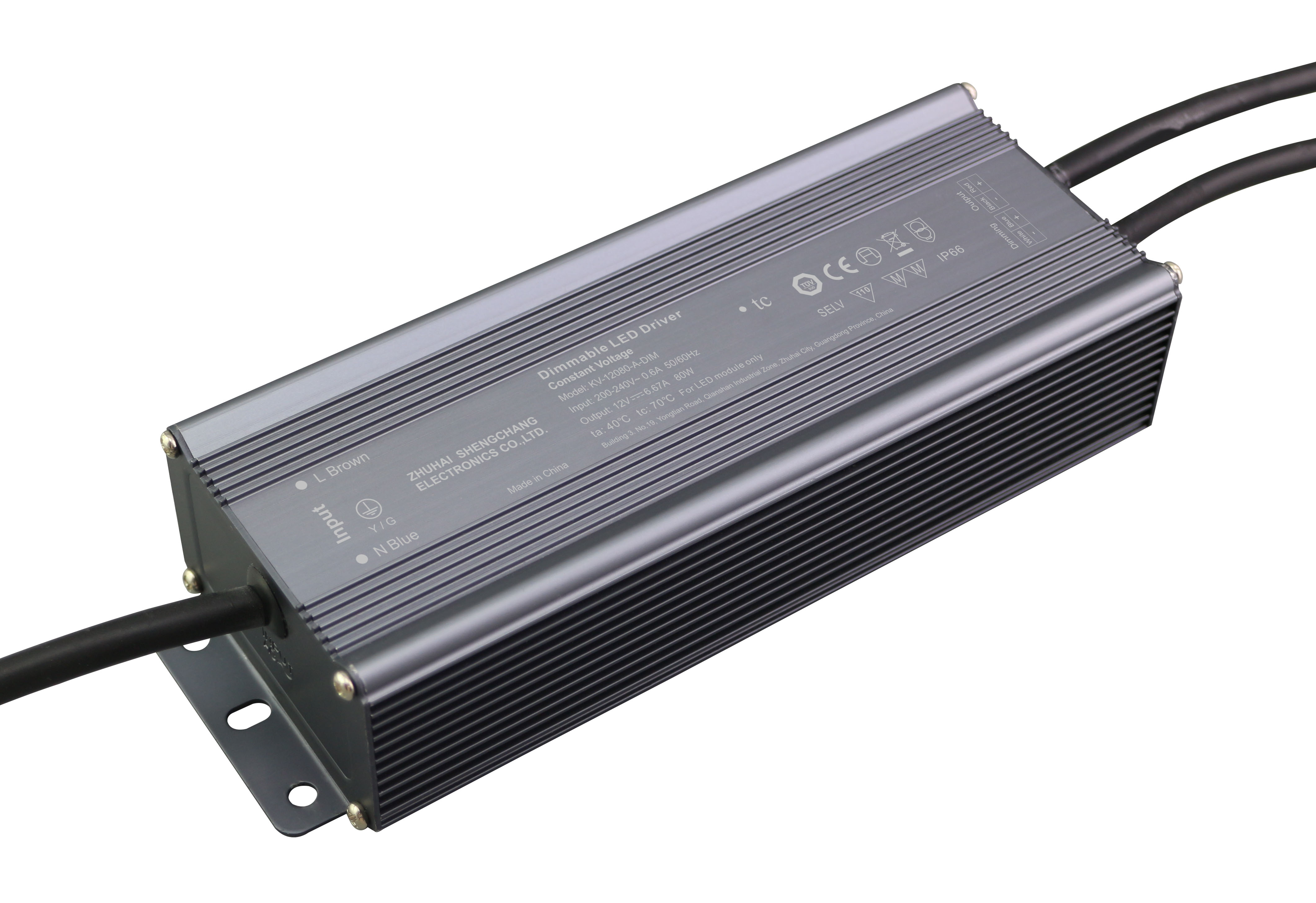 80W 0/1-10V constant voltage dimmable LED driver