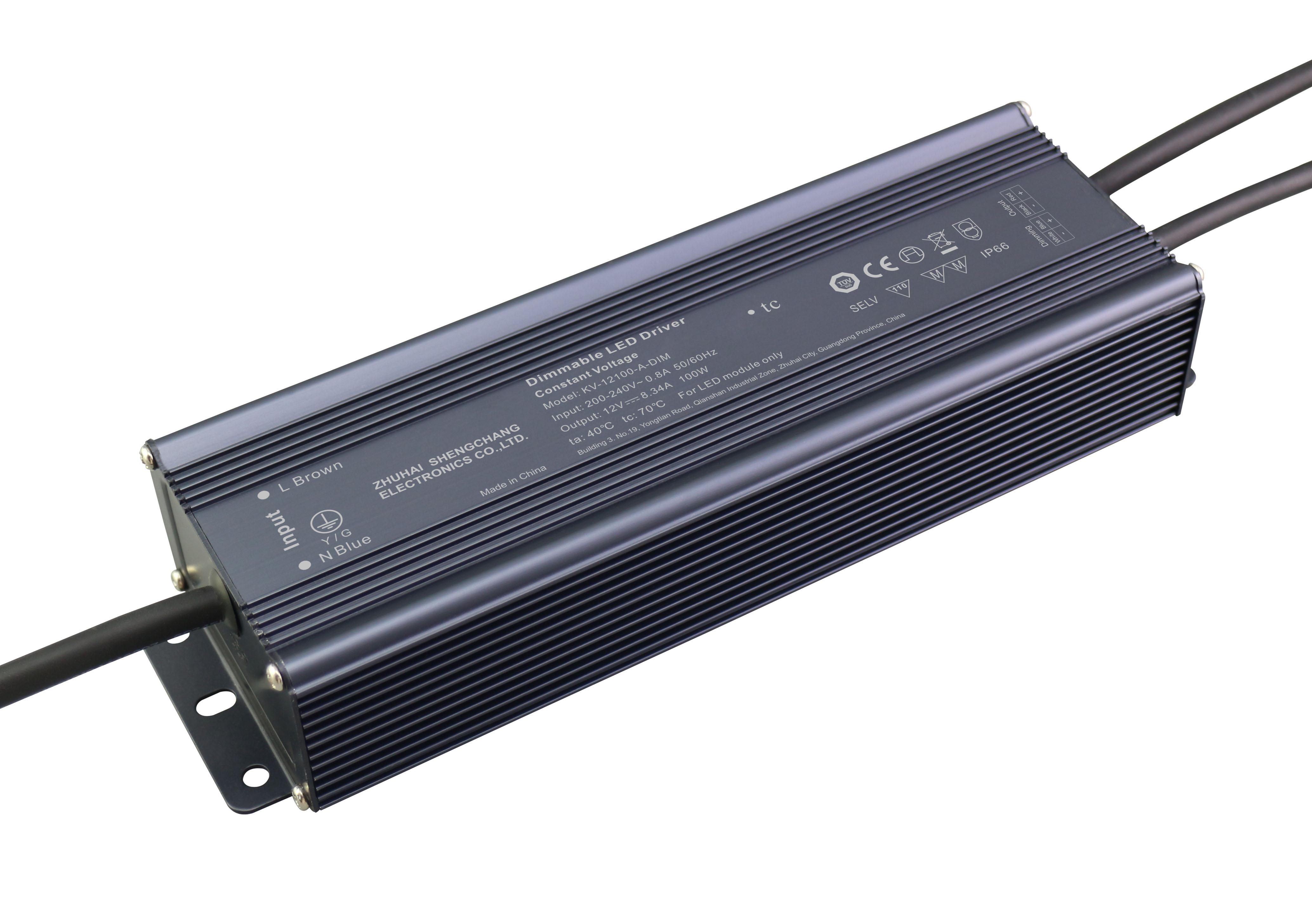 100W /1-10V 恒压调光W 12V/24V 0/1-10V 调光电源