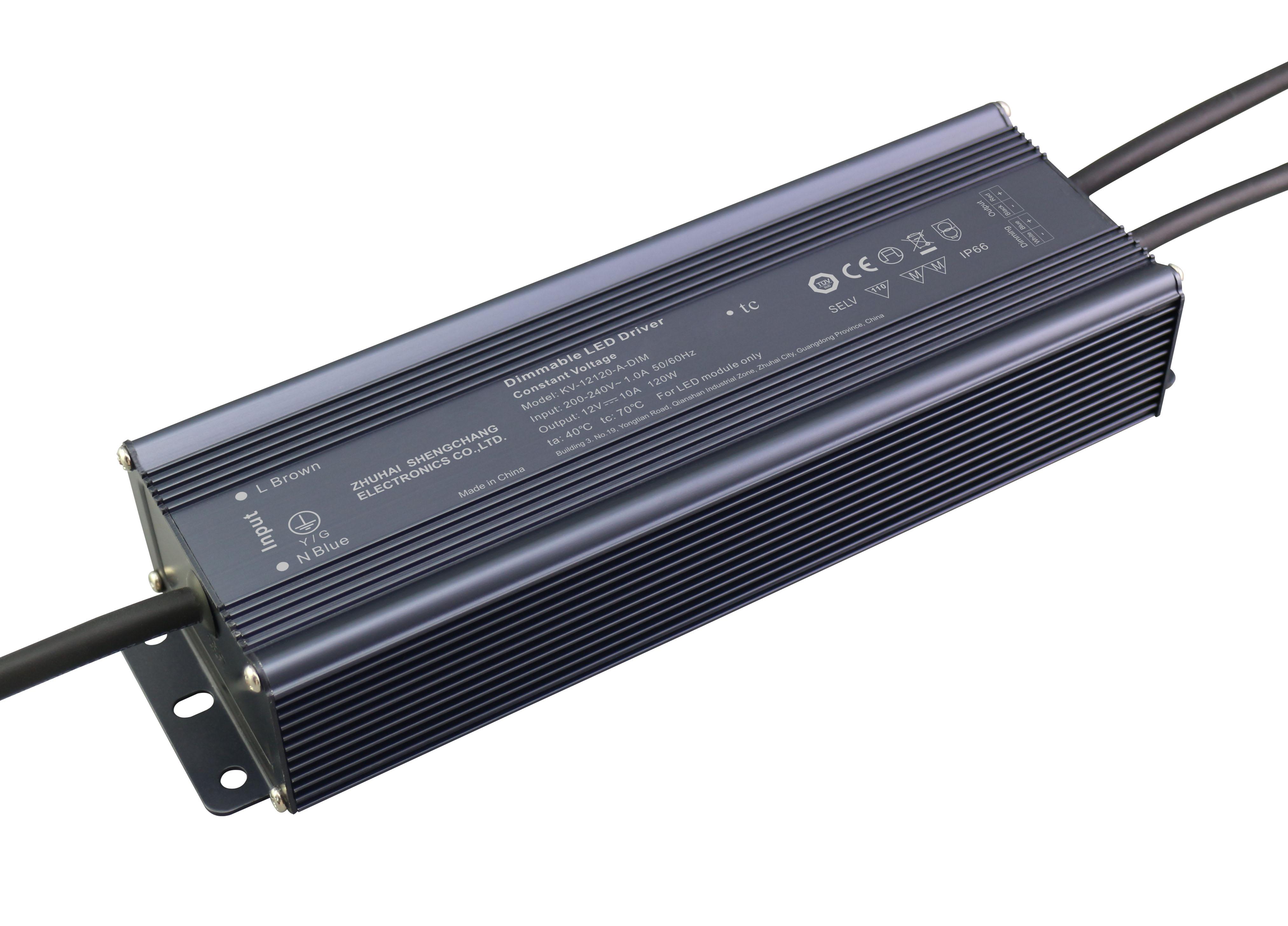 120W 12V/24V 0/1-10V 调光电源
