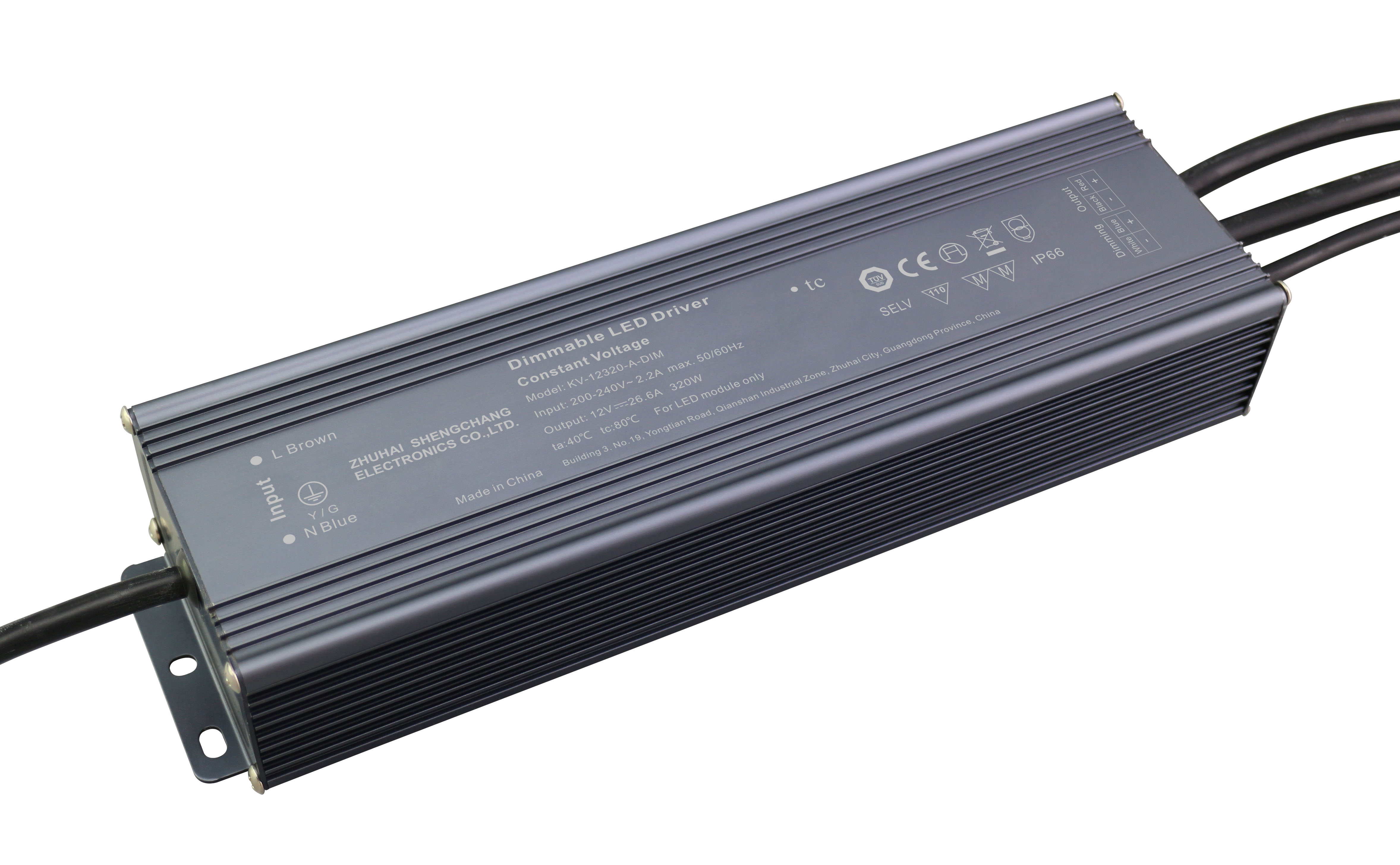 320W 0/1-10V constant voltage dimmable LED driver