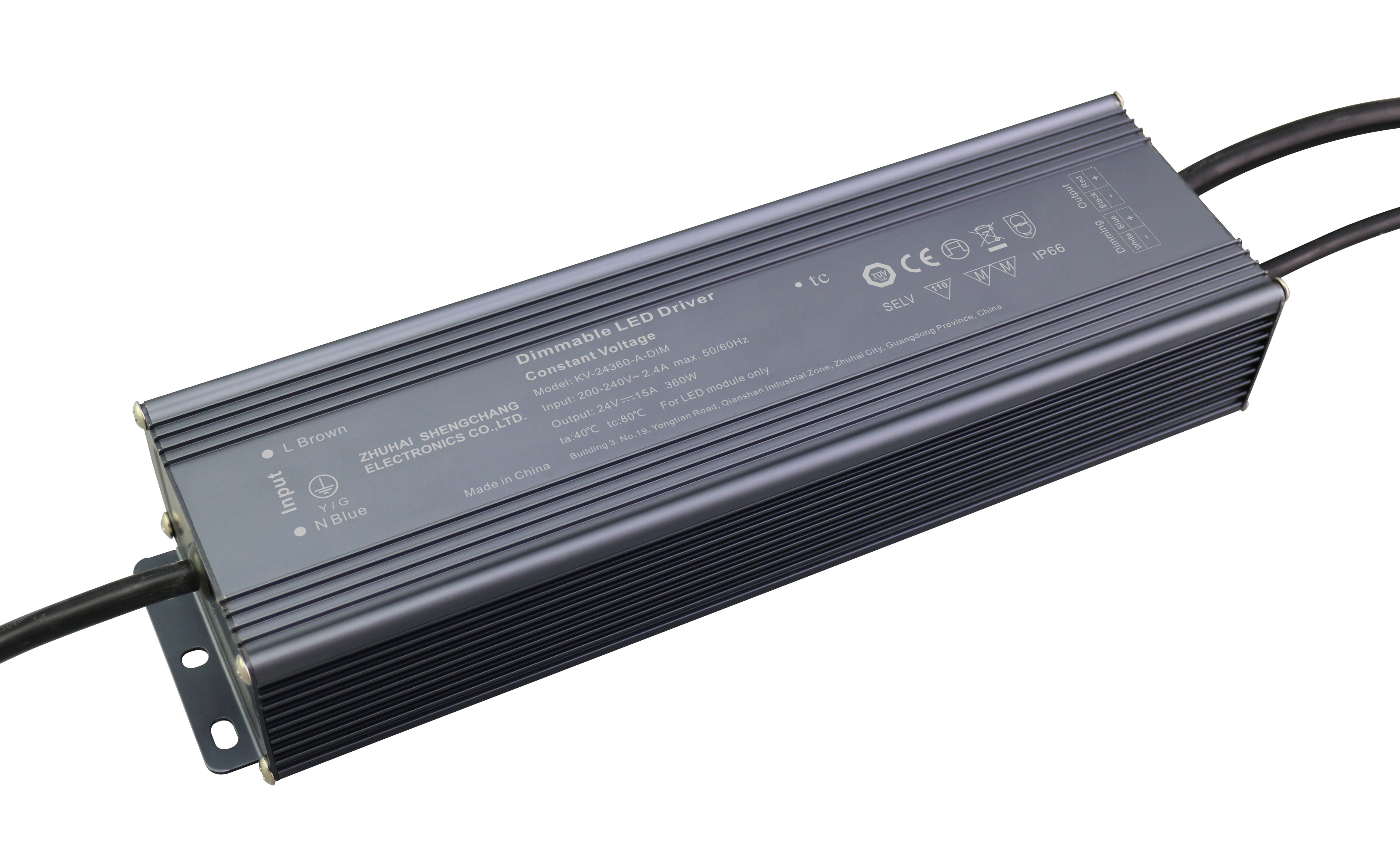 360W 0/1-10V constant voltage dimmable LED driver