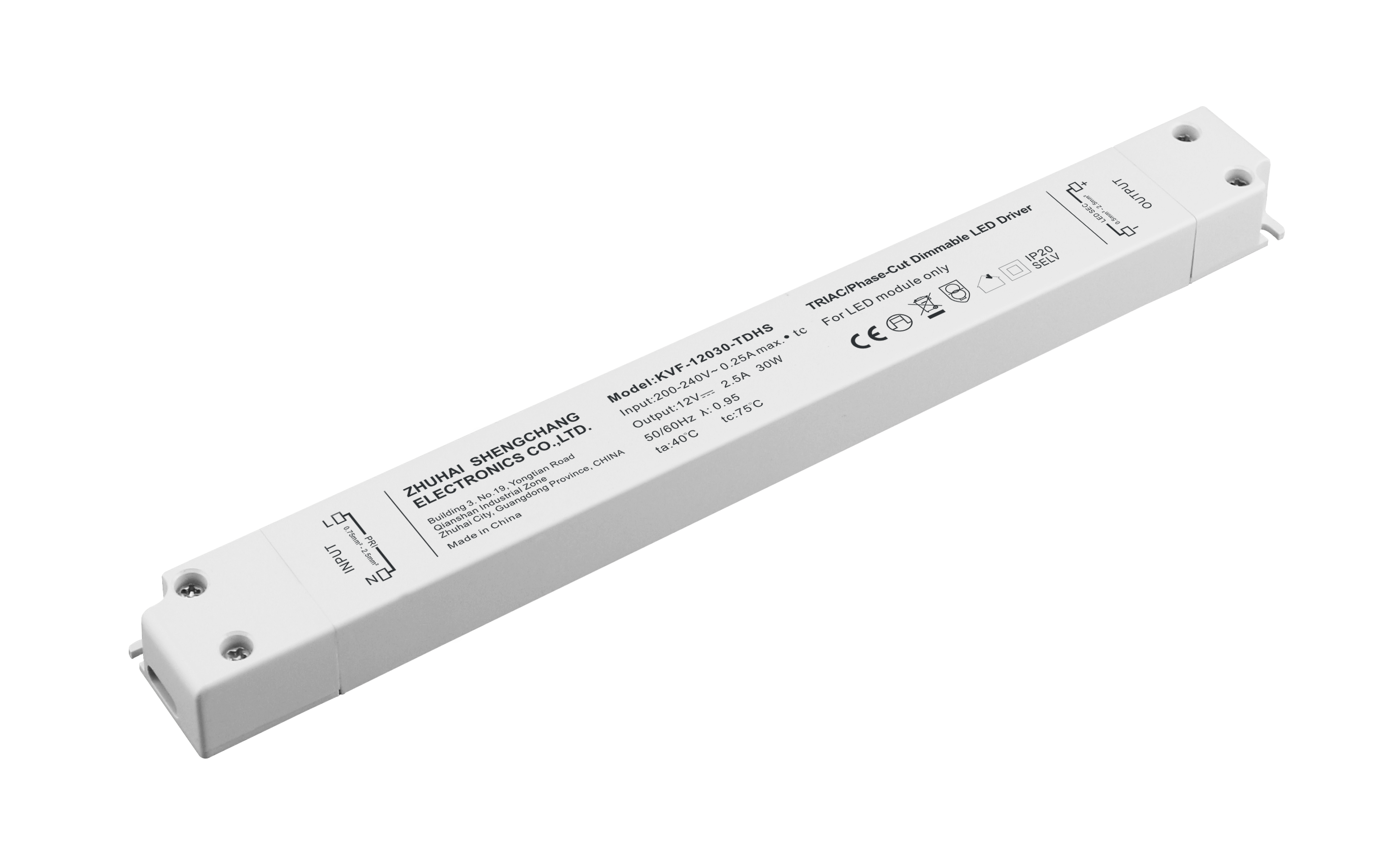 220VAC KVF Series 30W Constant Voltage Triac Dimmable LED driver