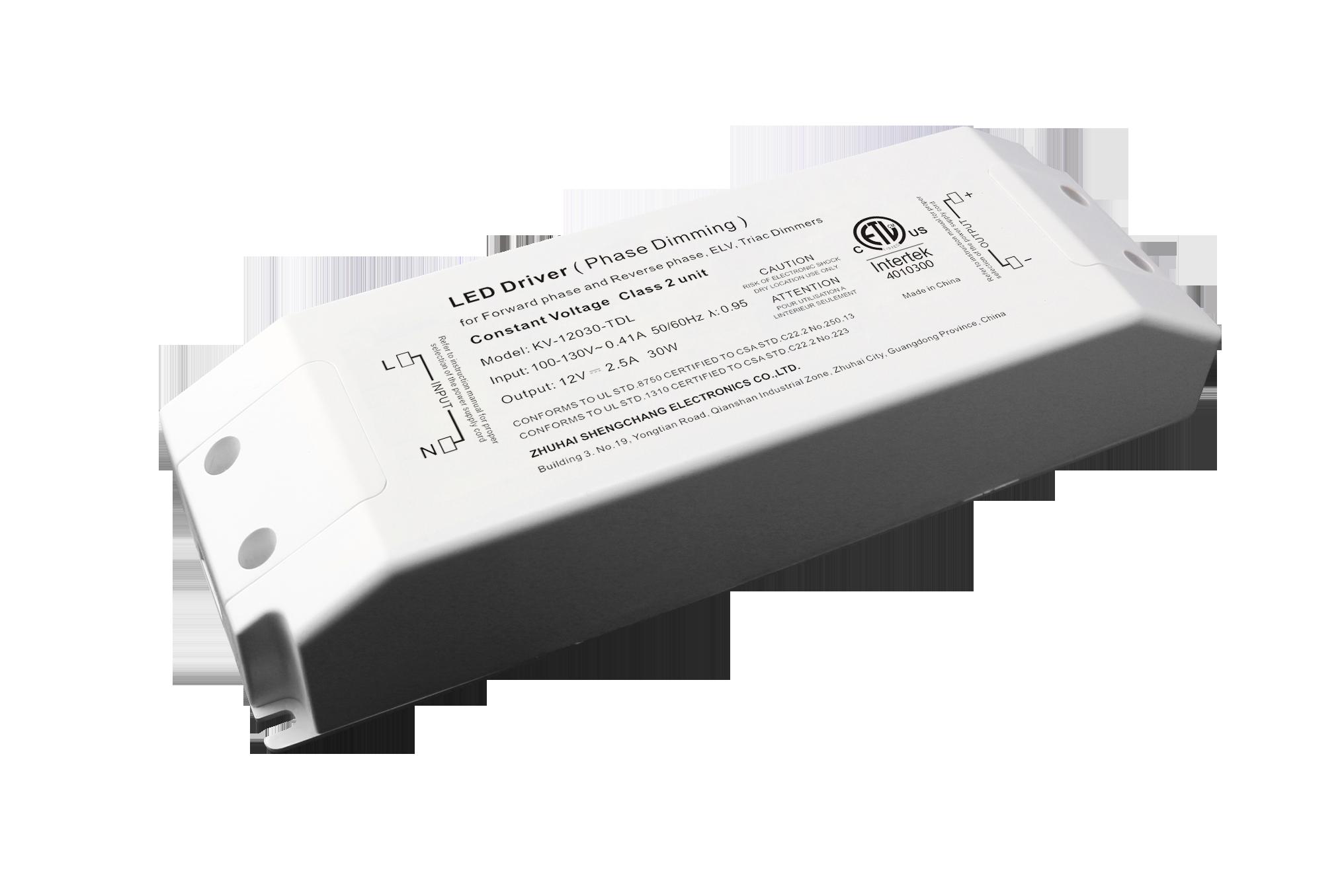 120VAC KV series 30W constant voltage triac LED driver