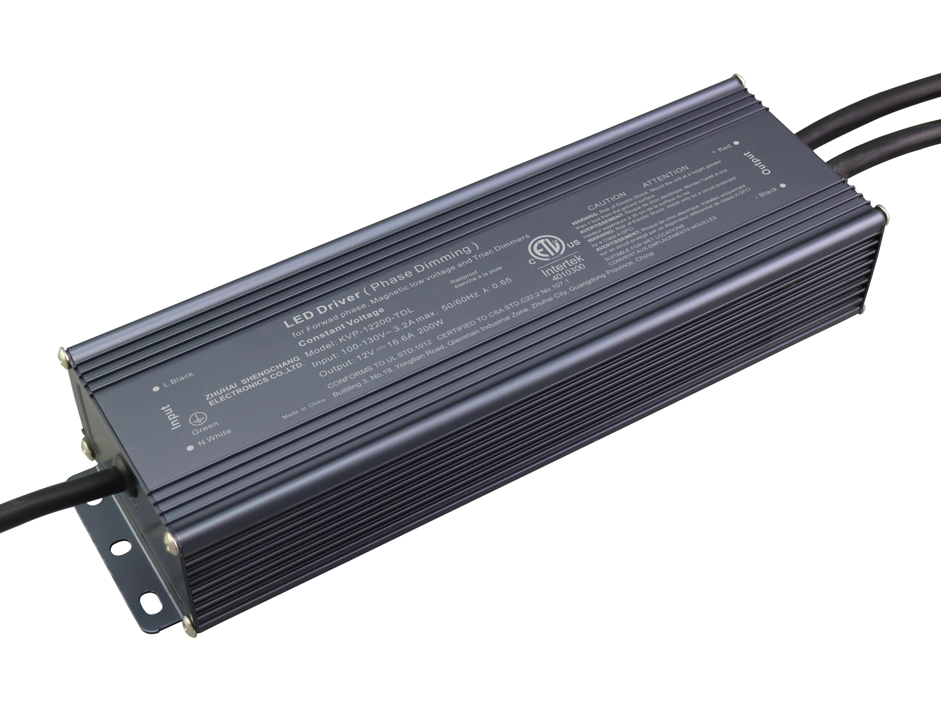120VAC KVP series 200W constant voltage triac LED driver