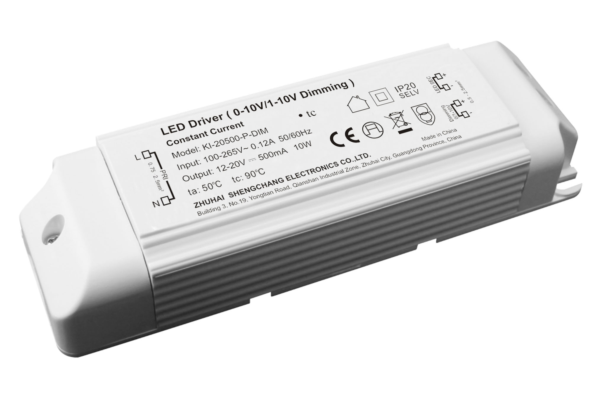 10W 0/1-10V constant current dimmable LED driver