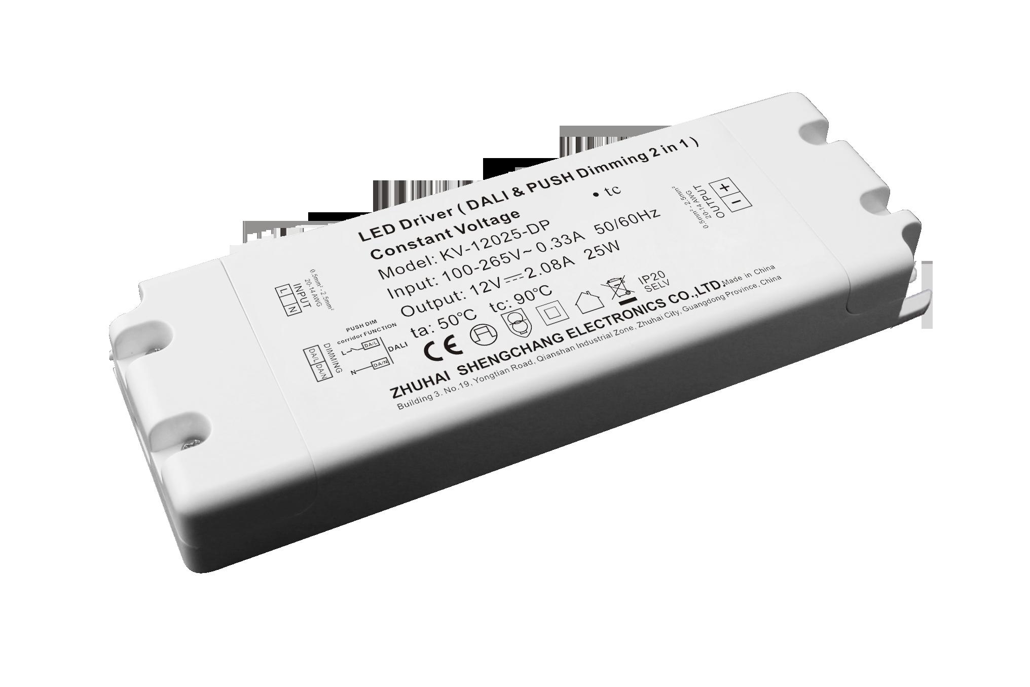 25W DALI&PUSH-DIM二合一LED调光电源