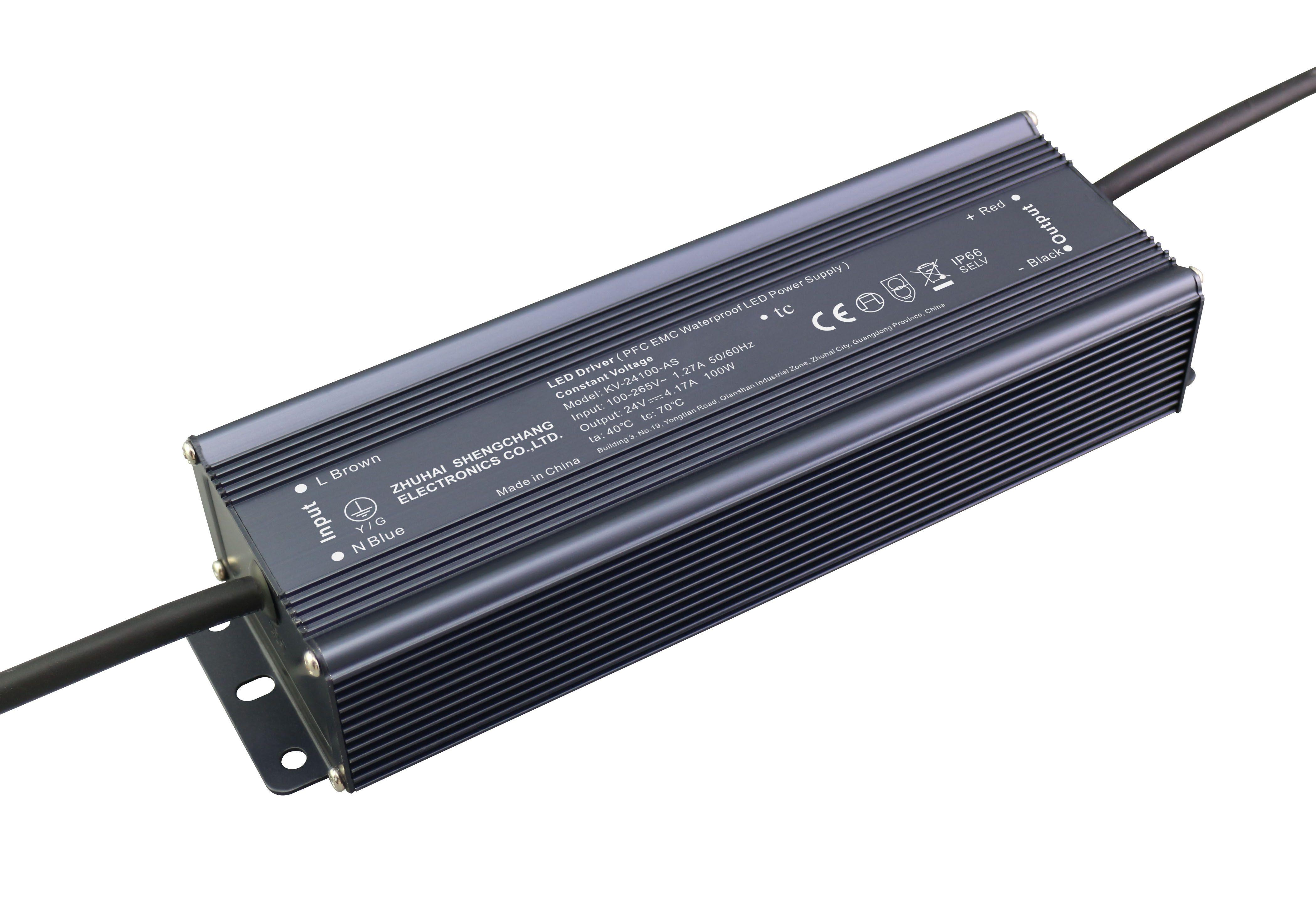 100W 12V/24V PFC EMC防水电源