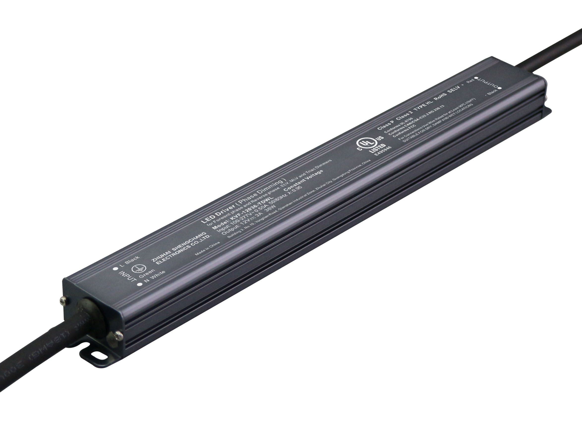 220VAC KVF Series 36W Constant Voltage Triac Dimmable LED driver