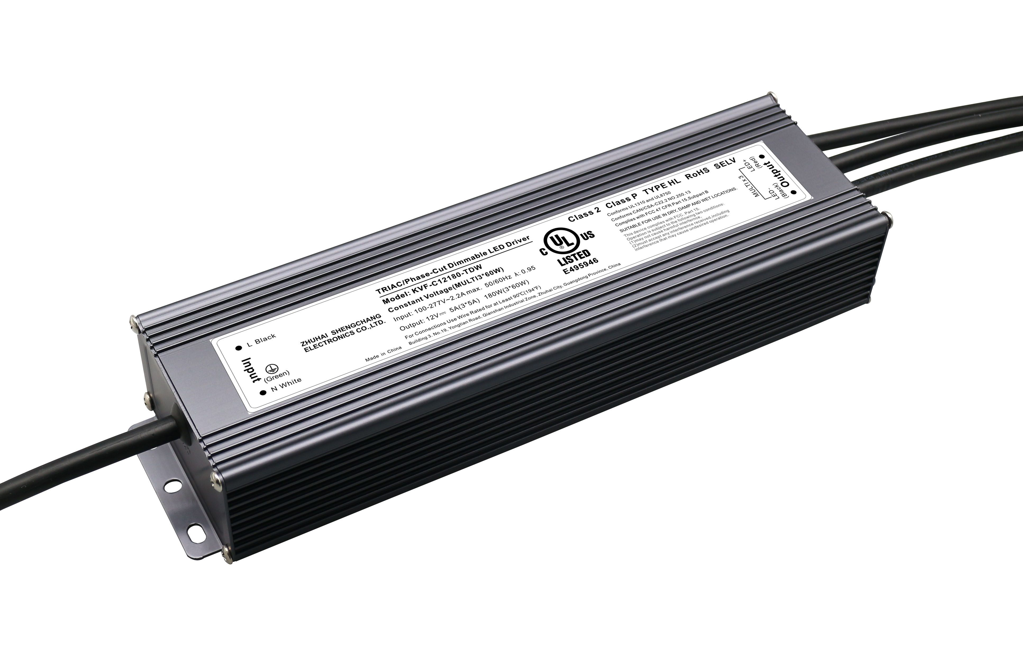 120VAC KVF series 180W / 192W constant voltage triac LED driver