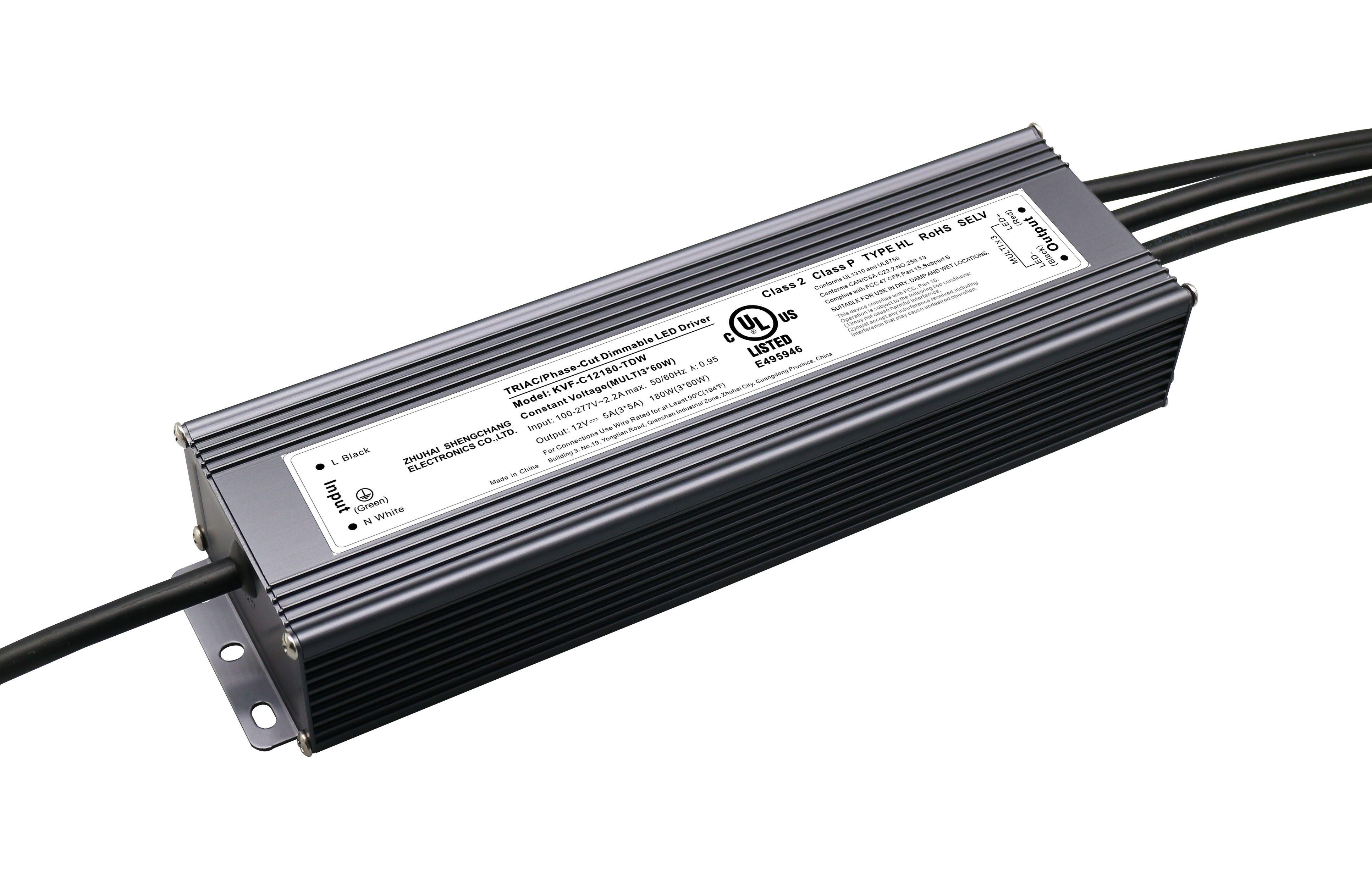 UL认证 12V 180W/ 24V 192W 可控硅调光电源