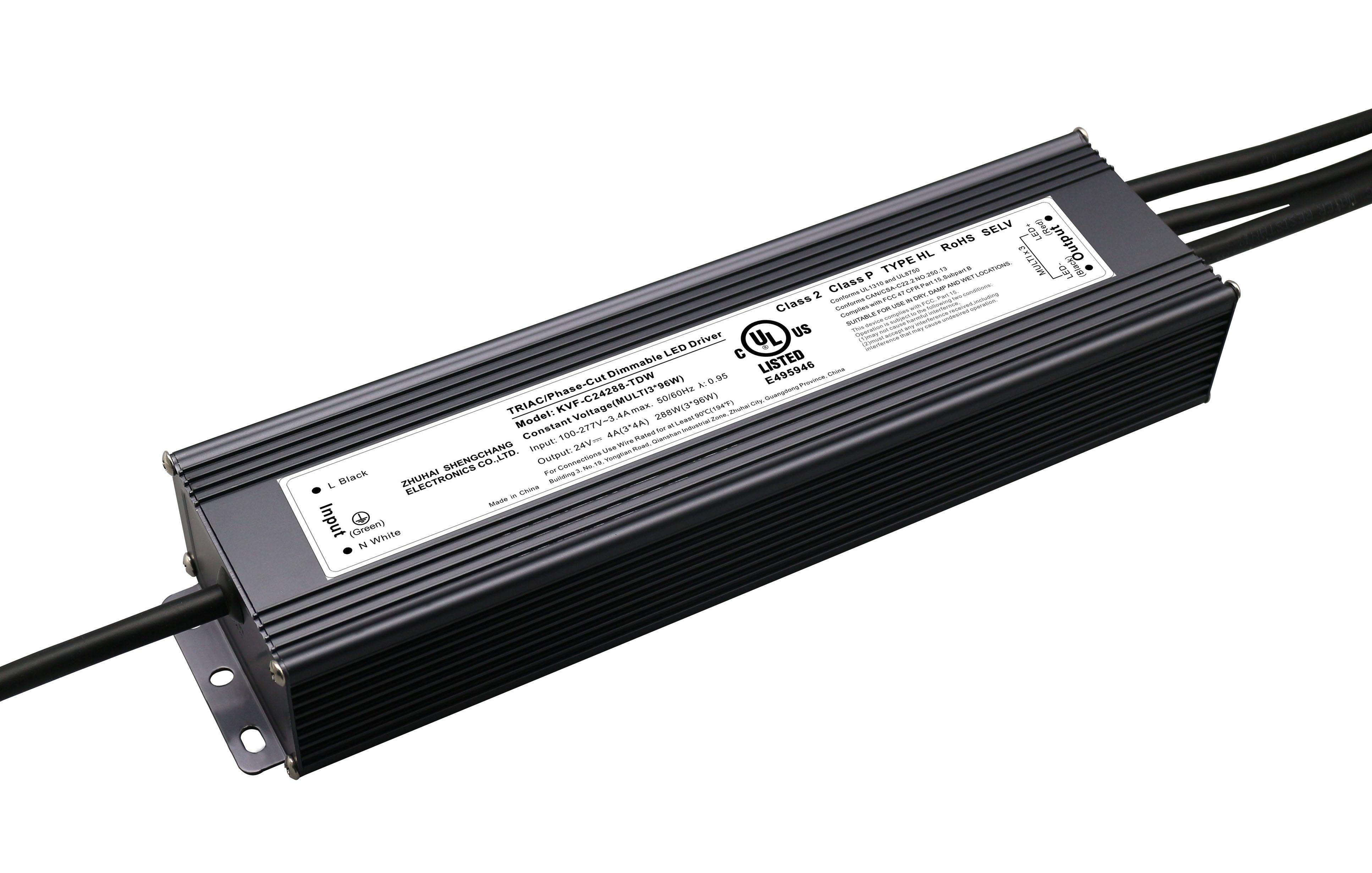 UL认证 12V 300W/ 24V 288W 可控硅调光电源