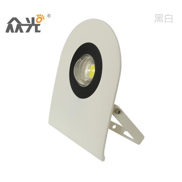 众光Q派投光灯30W至薄宽压COB光源2080LM铝材压铸55MM厚