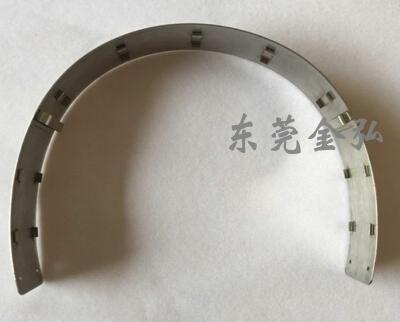 激光焊接加工-智能视听头戴耳机钢条 激光焊接耳机头带 话务耳机金属配件1087