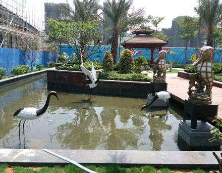 户外景观玻璃钢雕塑-户外景观动物雕塑