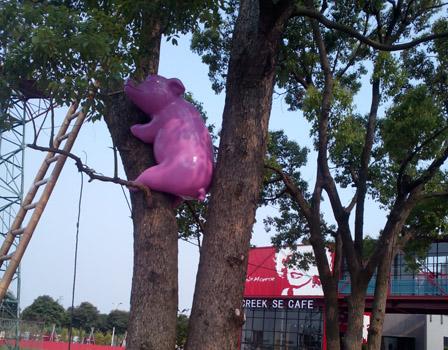 仿真动物雕塑-猪