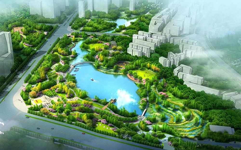 湘潭市-愛勞渠及其途經的百畝湖綜合治理工程