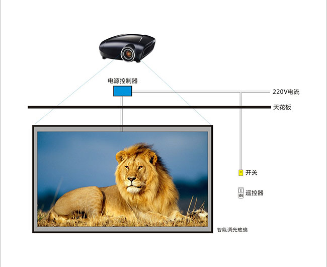 PDLC Smart Film for Rear Projection System
