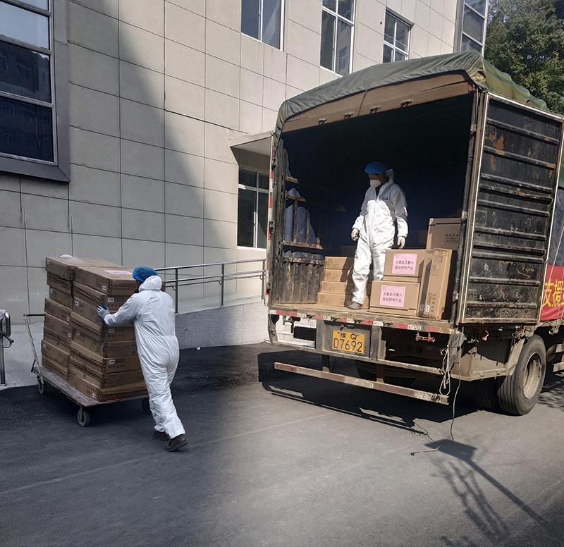 日夜兼程,華藝首批支援物資順利抵達武漢