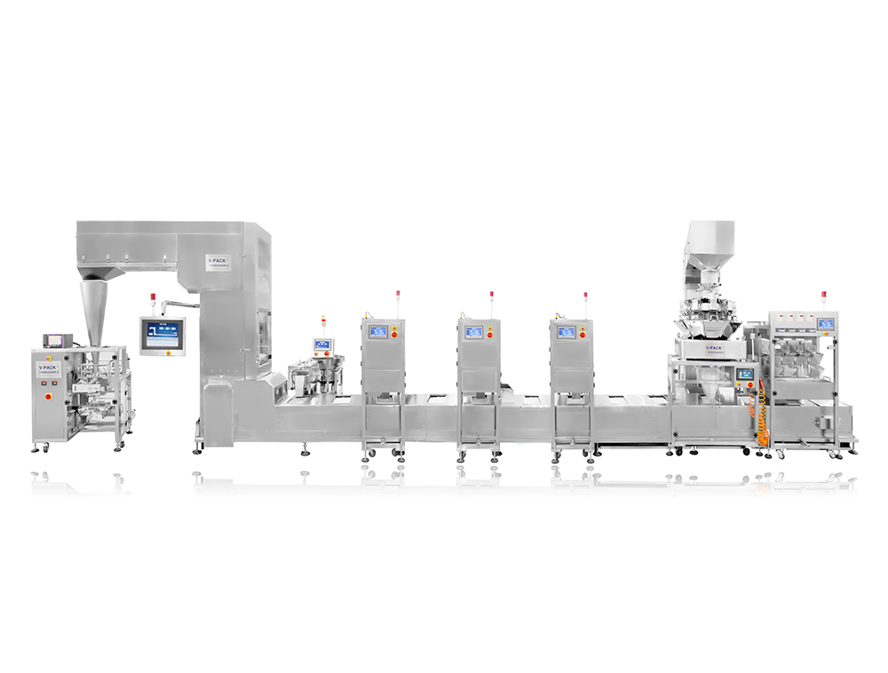 Fully intelligent multi-material combination packaging production line