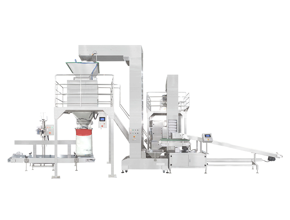 Chinese medicine decoction piece full intelligent 40 kg block type large packaging machine
