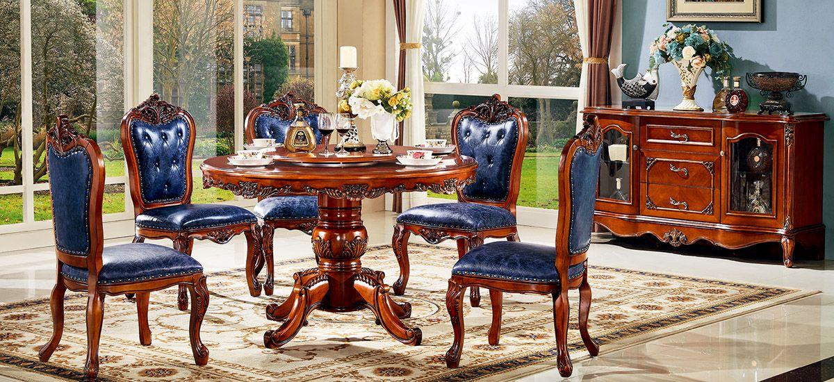 美式-M8306餐台-M8312餐椅/进口实木框架/接触面进口头层真皮/高弹力海棉